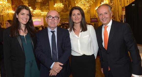 11. Emmanuelle Magliano (Groupe Métropole), Yvon Léa (Banque Rhône-Alpes), Marie-Anne Girel (Integra) et Eric Vernusse, président du club de la Com