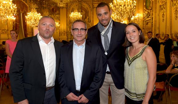 12. Stéphane Morot-Sir (ASVEL), Marc Berthod (Keolis), Gaëtan Muller (ASVEL) et Judith Samain (GM Sports)