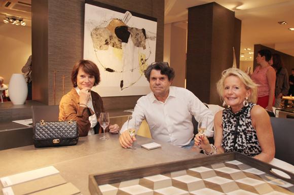 13. Annie Duchesnes, son époux Jean-Claude et Agnès Lambert, artiste peintre