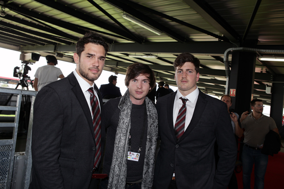 13. Vincent Martin, Marc-Antoine Ginon et Charles Malet (LOU Rugby)