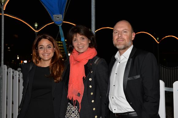 16. Stéphanie Fugain (Association Laurette Fugain) entourée de Virginie Nogueras et David Georget (Es'Tête)