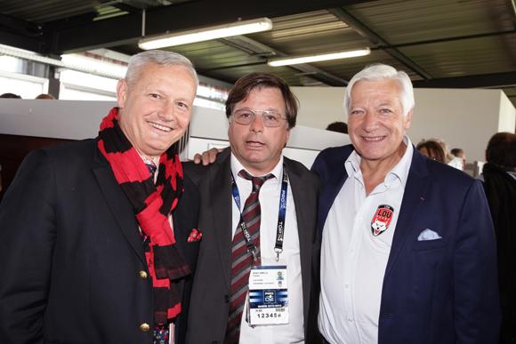21. Le général Pierre Chavancy, gouverneur militaire de Lyon, Franck Isaac-Sibille (LOU Rugby) et Marc Fraysse (Cofely GDF Suez)