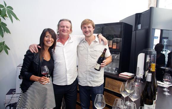 21. Florence Guyot (Champagne Margueritte Guyot), Eric Verbrugge (EuroCave) et Stéphane Ogier (Domaine Ogier)