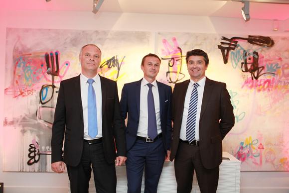 2. Bertrand Chastel, chef d'établissement Citroën Grand Lyon Sociétés, Jean-Marc Altoviti, responsable de secteur Citroën et Philippe Menguy, directeur régional Citroën et DS