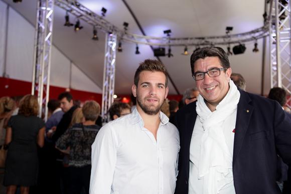 2. Guillaume Delord (Maestria) et Eric Piard, président de l'Arcol Rugby