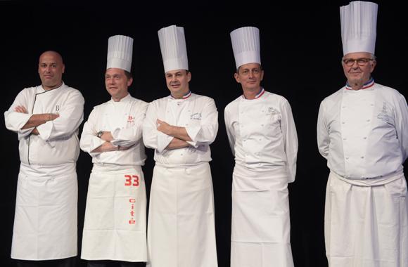 22. Les 5 chefs de la soirée, Philippe Bernachon, Frédéric Berthod, Christophe Roure, Alain Le Cossec et Jean-Paul Pignol