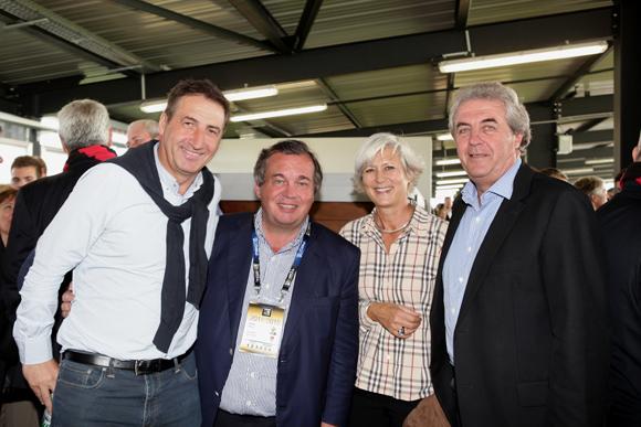22. Patrick Iliou (Olympique Lyonnais), Olivion Ginon (GL Events), Caroline Bernand et  Maitre Richard Brumm, adjoint aux Finances