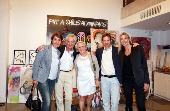 26. Christelle Cimetière (agence EMC), Gérard Tranchand, son épouse Martine Pascal Pancrazio (Lyon Ouest Immobilier) et  Aline Germain (Citroën)