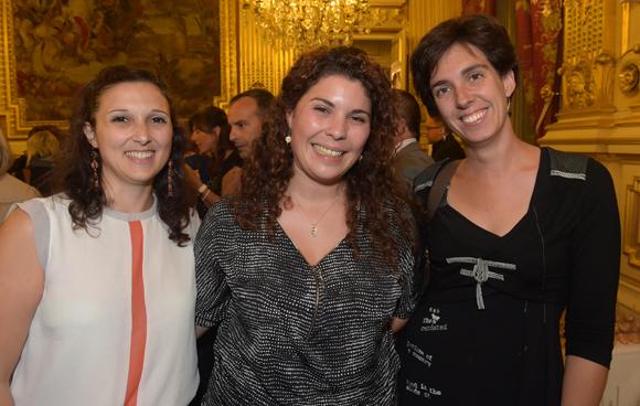 32. Eglantine Moirez (Lyonnaise des eaux), Cécilia Jannodet (Lamy Lexel) et Sophie Le Curieux (AFPA)