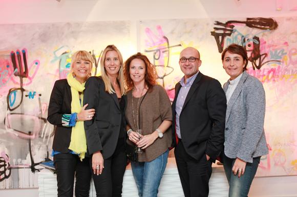 4. Ingrid Perelle (Cozip), Aline Germain (Citroën), Stéphanie Orliange (SOS Archi), Philippe Greusset (ISIS) et Christelle Cimetière (agence EMC)