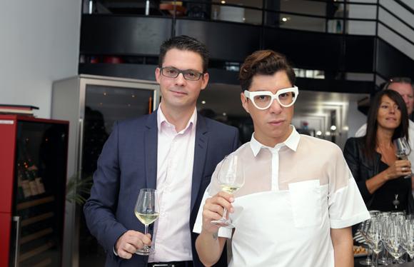 4. Guillaume Gaydon (EuroCave) et Dado Lopez-Perez, styliste de mode