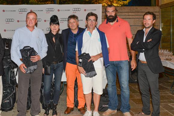 42. Olivier Sandrey, Dominique Bacot (5e Net), Catherine et Olivier Delorme, Sébastien Chabal