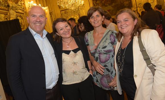 48. Bruno Bonnell, Nadine Castellani (Orange), Severine Durand (Egis) et Dorothée Phelip (Apicil)