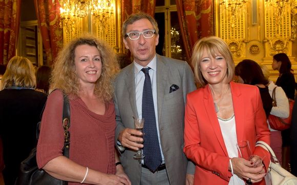 49. Isabelle Huguet (Biennale de Lyon), Bernard Reybier (Fermod) et son épouse Sylvie Vincent Reybier