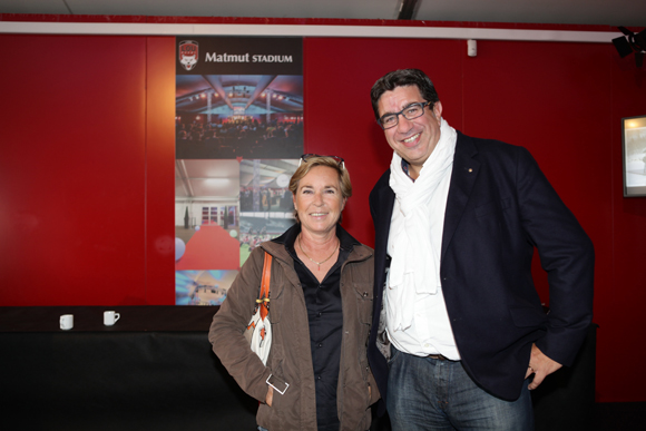 5. Claudie Ravier (Société des Courses de Lyon) et Eric Piard, président de l'Arcol Rugby
