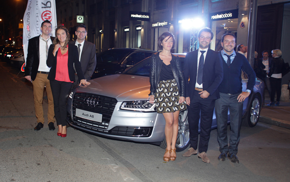 5. Joachim Gladel, Sandrine, Sébastien, Camille Artaud et Justin Delorme, directeur Audi et Yves (groupe Delorme)