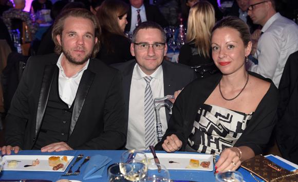 60. Nicolas Sale (Le K2 restaurant), son épouse Jennifer et Pierre-Michel Erard (Renault)