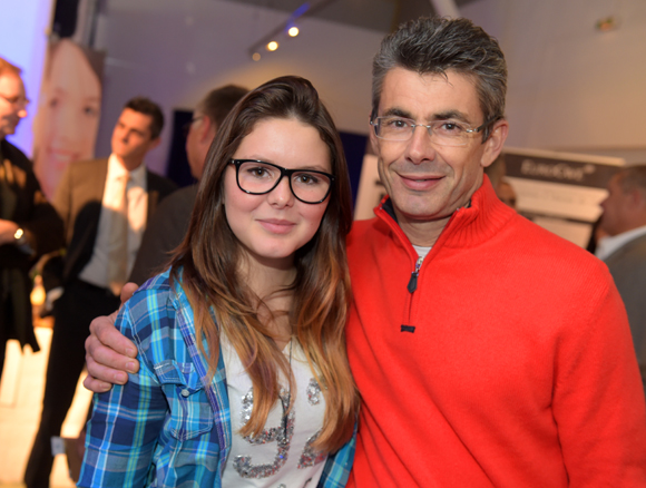 6. Philippe Gauvreau (Halles 9) et sa fille