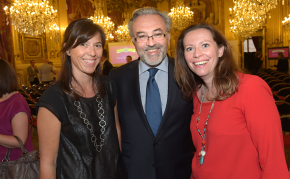 7. Magali Villaret (Groupe Amallia), Erick Roux de Bézieux (Syntagme) et Amélie Blondin (TNT)