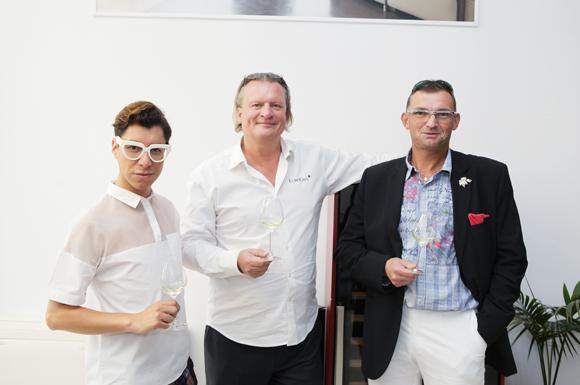 7. Dado Lopez-Perez, styliste de mode Eric Verbrugge (EuroCave) et Pierre Many (Restaurant le 110 vins)