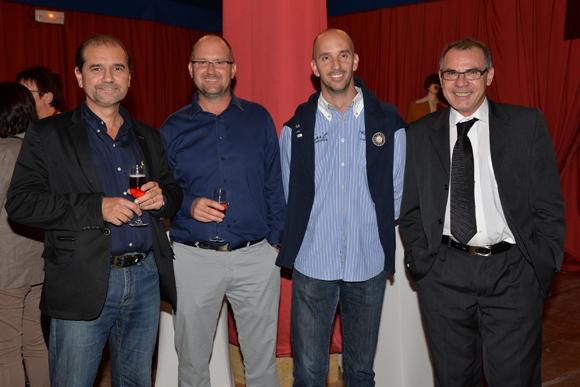 9. Christian Brocard (AMSV), Franck et Cyrille Laubé (CF Plastiques), Marc Labaty (AMSV)