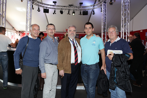 9. Christian Muel (Orangina), Alain Royan (Cote), David Ferrari (Orangina), Dominique Vinay (Sonepar) et Jean-Paul Demont