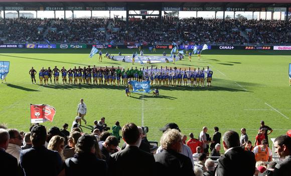 Les tribunes VIP de LOU – Toulouse. Une leçon de rugby
