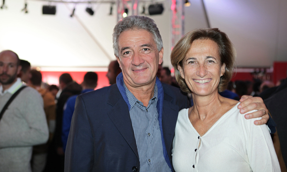 1. Roger Girardon et Caroline Courtiade, présidente de la Chambre des Notaires du Rhône