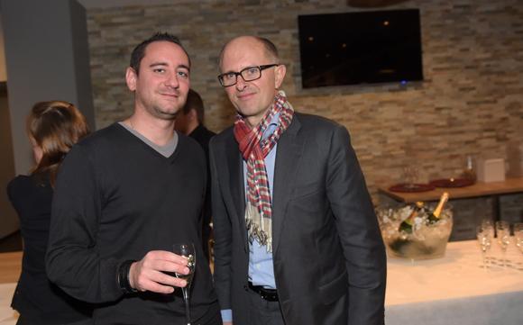11. Mathieu Theyssier (Square Glasses) et Didier Kermarrec (OL)