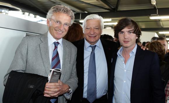 12. Nelson Monfort, journaliste sportif, Marc Fraysse (Cofely GDF Suez) et Marc-Antoine Ginon (LOU Rugby)