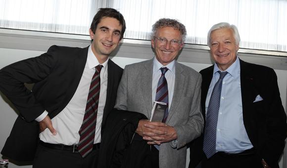 13. Yann Roubert, président du LOU Rugby, Nelson Monfort, journaliste sportif et Marc Fraysse (Cofely GDF Suez),