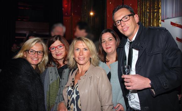 17. Valérie Fetaud (LOU Rugby), Michelle Cornu-Payet, Anne Prost (Onlylyon), Delphine Cossic et Fabien Aubœuf (SACVL)