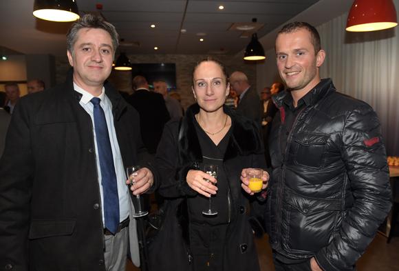 18. Eric Rivera, Isabelle Lazzaroni (Crédit Agricole) et Philippe Allagnat (Chant du Coq)