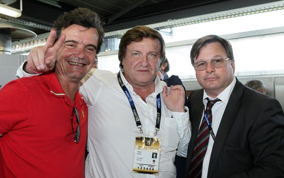 19. L'Ardéchois Christophe d'Indy, président de Métronomerace, Olivier Roux, co-fondateur de GL Events et Franck Isaac-Sibille (LOU Rugby)