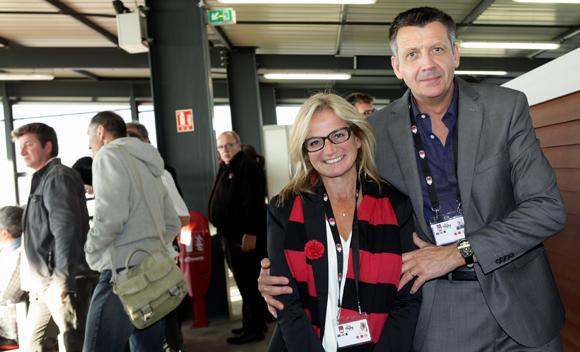 22. Valérie Fétaud (LOU Rugby) et Thierry Bouchet (Champagne de Venoge)