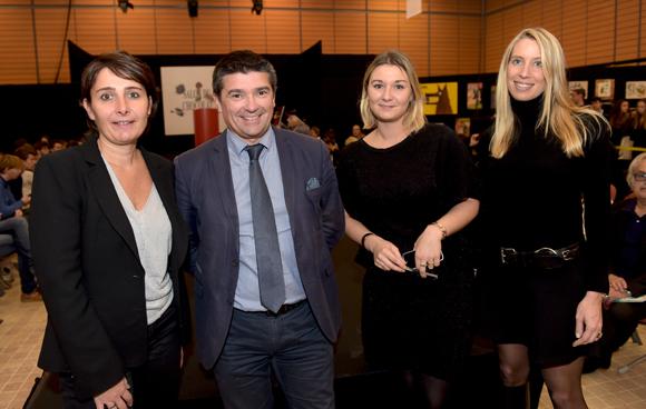 23. Christelle Cimetière (EMC), Philippe Menguy, Camille Wangon et Aline Germain (Citroën)