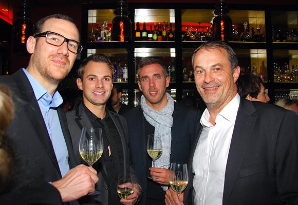 26. Olivier Gaugey et Julien Geliot-Chalard (Fabien Chalard Groupe), Stéphane Croc (Champagne Mumm) et Alain Potiron (Directeur régional Pernod)
