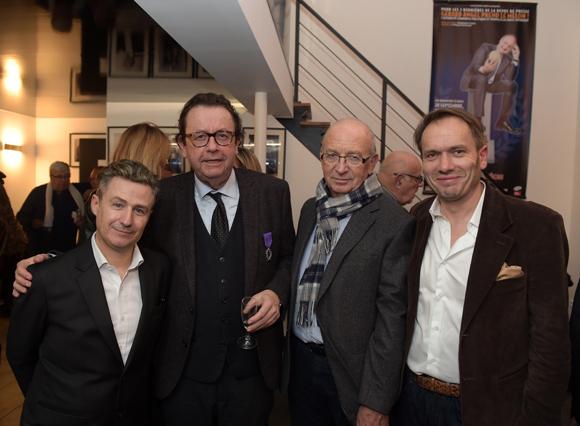 32. Thierry Lahon (à KGB), Philippe Vorburger (Comédie Odéon), l'écrivain André Blanc et Pierre Chambon (à KGB)
