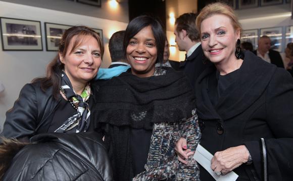 5. Laurence Chabbat (Domaine le Lyon Vert), Evelyne (Radio Scoop) et Danielle Requien