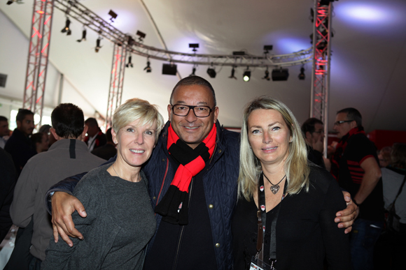 6. Lydie Bini (Bifraco), Tony Goupil (Champagne Pommery) et Corinne Paris (Assurances Paris Gerbaud)