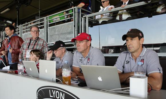 9. Jean-Marie Nauleau, Louis Engelhard, Tim Lane et son staff10. Léandre Borbon (LOU Rugby)