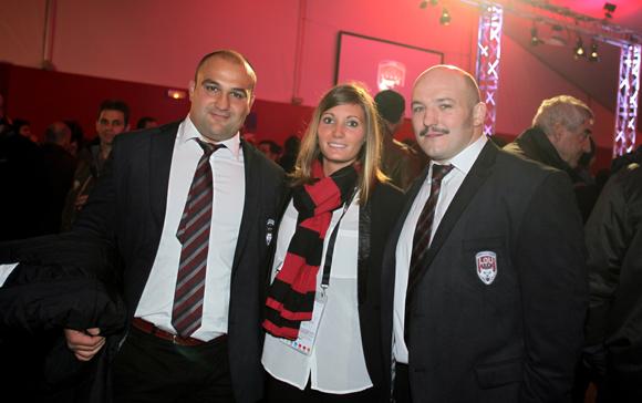 10. Anthony Roux, pilier, Laure Casanova (LOU Rugby) et Jérémy Castex, pilier