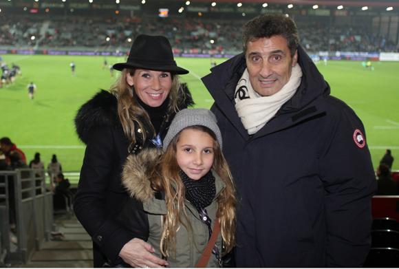 14. Anne Altrad, Emma et Mohed Altrad, président du club Montpelier Hérault MHR