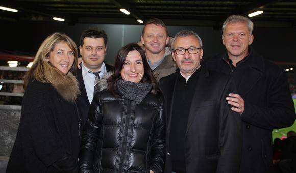 15. Catherine Arbaud (LOU Rugby), Frédéric Beurq (le Sousbock), Cécile Rivieccio (Orange), Pierre Calvel (Orange), Aziz Hebbache (le Sousbock), François Davoine (Brennus Investissement)