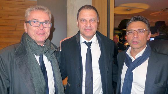 2. Olivier Blanc, Serge Bex et Olivier Bernardeau (OL)