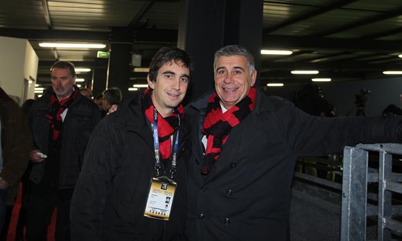 22. Yann Roubert, président du LOU Rugby et Pierre Maillot (LOU Rugby)