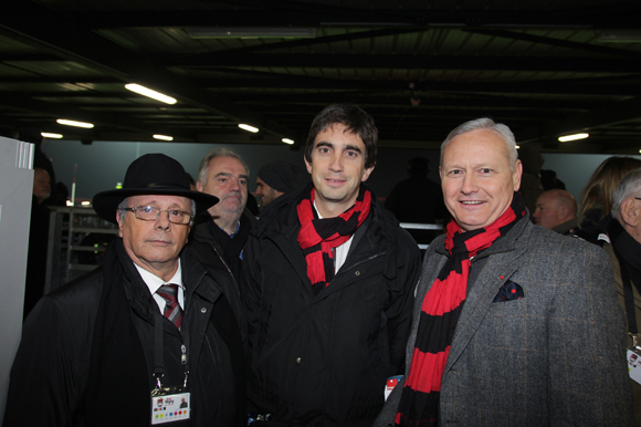 24. Léandre Borbon (LOU Rugby), Yann Robert, président du LOU Rugby et le général Pierre Chavancy, gouverneur militaire de Lyon
