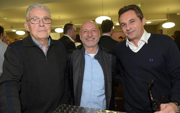 27. Claude Mahé, l'horloger Jean-Louis Maier et Jean-Pierre Cot (Groupe Cot)
