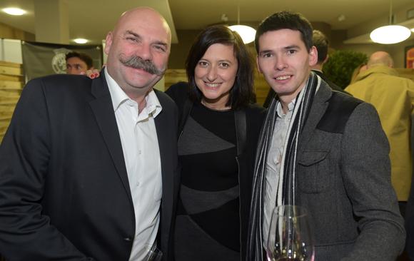 28. Yann Eon (Maison Ruinart), Séverine Eberhardt (Welcome) et le sommelier Jacques Rouget (Paul Bocuse)