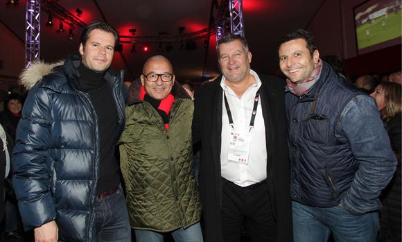 4. Aurélien Berthelet (Cars Berthelet), Tony Goupil (Champagne Pommery), Christophe Gerbaud (Assurances Paris Gerbaud) et Frédéric Maraillet (Akesa)